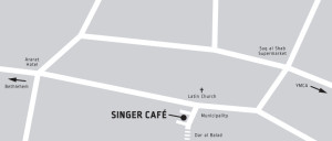 Map Singer Cafe in Beit Sahour